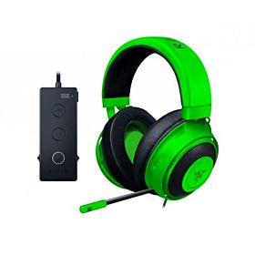 Razer Kraken Tournament Edition Green Wired Gaming Headset USB Audio Controller Black (8806)