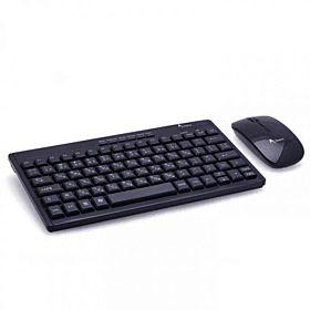 A.Tech RFCOMBO01 2.4GHz Mini Slim Wireless Keyboard & Mouse Combo - Black