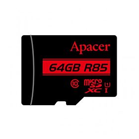 Apacer 64GB Class 10 Micro SDHC Memory Card with Adapter