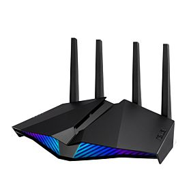 Asus RT AX82U AX5400 Dual Band WiFi 6, Asus AURA RGB, Lifetime Free Internet Security, Mesh WiFi support Gaming Router