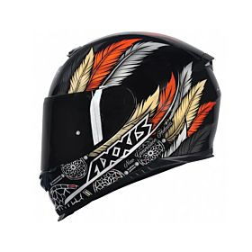Axxis Eagle Dreams Glossy Black Helmet (Clear Visor)