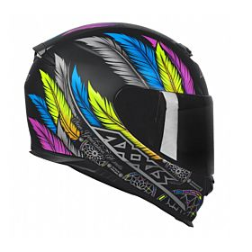 Axxis Eagle Dreams Matt Black Helmet (Clear Visor)