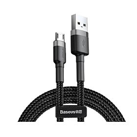 Baseus CAMKLF-CG1 Cafule USB for Micro 1.5A 2M Cable – Gray & Black