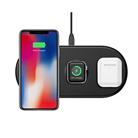 Baseus WX3IN1-B01 Smart 3 in1 Wireless Charger for Phone, Watch & Pods – Black