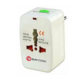 Baykron ITC001 Universal World Travel Adapter – White