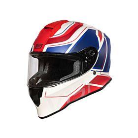 Origine Dinamo Galaxi Blue-Red-White Glossy Helmet- (Clear Visor)