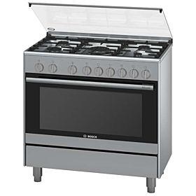 BOSCH HSG736357M Serie 2 Range Cooker 90 Cm Wide–Stainless Steel