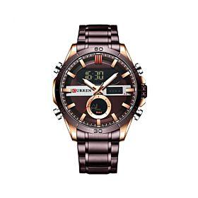 CURREN 8384CF Quartz Digital Men's Watch
