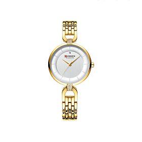 Curren C9052GLD Golden White Dial Women's Watch