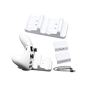 Dobe Dual Charging Dock with Rechargeable Battery Kit for Xbox One / S/ X - White