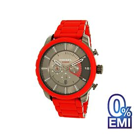 Diesel DZ4384 Stronghold Gunmetal Dial Red Plated Stainless Steel Men's Chronograph Watch