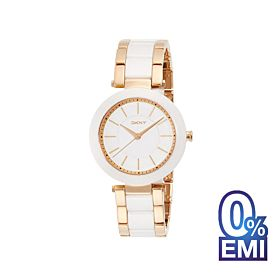 DKNY NY2500 Stanhope Rose Gold Ceramic White Watch For Women