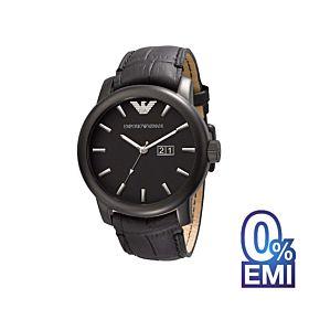 Emporio Armani AR0496 Classic Black Leather Quartz Men's Watch