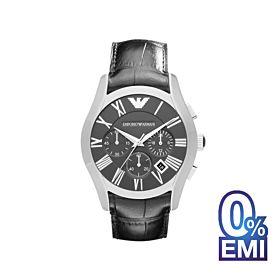 Emporio Armani AR1633 Classic Black Chronograph Black Dial Black Leather Men's Watch