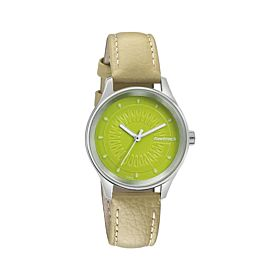 Fastrack 6203SL01 Green Dial Leather Strap Women's Watch
