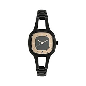 FASTRACK NM6147NM01 Grey Dial Black Metal Strap Women's Watch