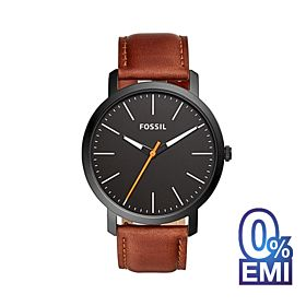 Fossil BQ2310IE Luther Three-Hand Brown Leather Men's Watch