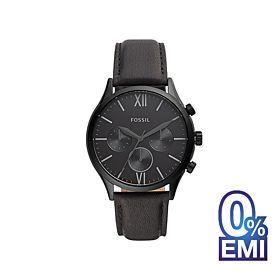 Fossil BQ2364 Fenmore Midsize Multifunction Black Leather Men's Watch