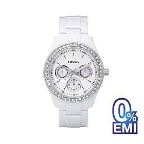 Fossil ES1967 Stella Multifunction White Resin Women's Watch