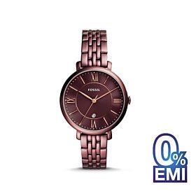 Fossil ES4100 Jacqueline Three-Hand Date Wine Stainless Steel Women's Watch