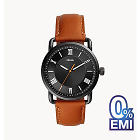Fossil FS5667 Copeland 42mm Three-Hand Luggage Leather Men's Watch