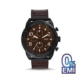Fossil FS5713 Bronson Chronograph Brown Croco Leather Men's Watch