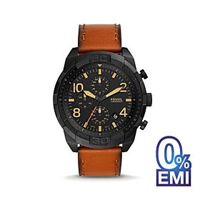 Fossil FS5714 Bronson Chronograph Luggage Leather Men's Watch