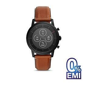 Fossil FTW7007 Hybrid HR Collider Tan Leather Smartwatch
