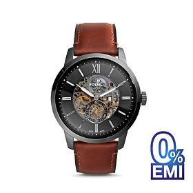 Fossil Townsman 48mm Automatic Amber Leather Men's Watch (ME3181)
