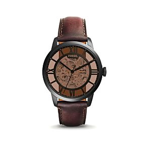 Fossil Townsman Automatic Dark Brown Leather Men's Watch (ME3098)