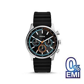 Fossil BQ2445 Sullivan Multifunction Black Silicone Watch For Men