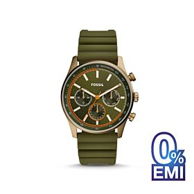 Fossil BQ2446P Sullivan Multifunction Olive Green Silicone Watch For Men