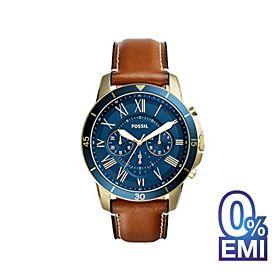 Fossil FS5268 Brown & Blue Quartz Watch for Men's