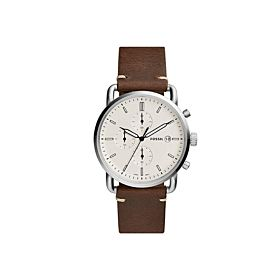 Fossil FS5402 Commuter Chronograph Leather Strap Men's Watch