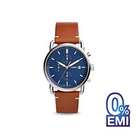 Fossil FS5401 Commuter Dial Brown Leather Men's Watch