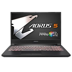 "Gigabyte AORUS 5 KB 15.6"" FHD 144Hz IPS RTX 2060 GPU 10th Gen i7 16GB Ram 512GB SSD Backlit Keyboard Gaming Laptop – Black"