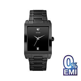Guess U12557G1 Black Case Black Stainless Steel Men's Watch