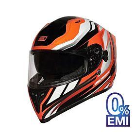 Origine Strada Revolution Orange Titanium Black Helmet (Clear Visor)