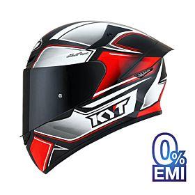 KYT TT-Course Tourist Red Fluo Helmet