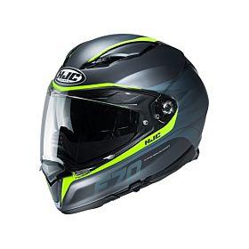 HJC F70 FERON Green MC4HSF Full Face Helmet (Clear Visor)