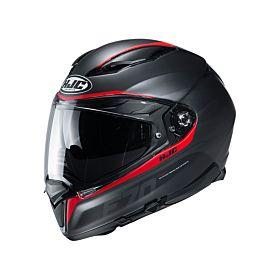 HJC F70 FERON Red MC1SF Full Face Helmet (Clear Visor)