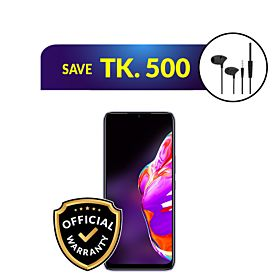 Infinix Hot 10s 6GB/128GB With Free UIISII C100 In-Ear Earphone with Mic
