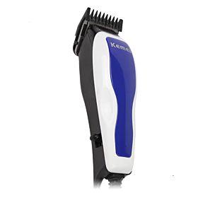 Kemei Electric Hair Trimmer (KM-2208) - Blue & White