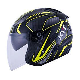 KYT Hellcat Arrow Black- Yellow Half Face Helmet