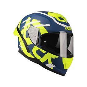 Lazer Rafale SR STREET Navy Blue-Yellow Matte Helmet