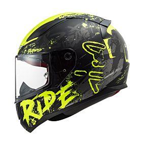 LS2 FF353 Rapid Naughty Helmet Black & Yellow
