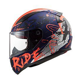 LS2 FF353 Rapid Naughty Helmet Orange & Blue