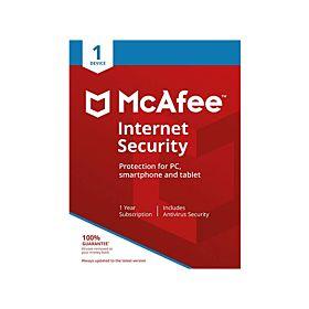 McAfee 1 user Internet Security 1 Year Antivirus