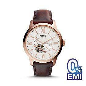 Fossil Townsman Beige Dial Automatic Men's Watch (ME3105)