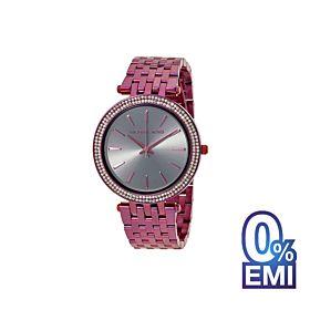 Michael Kors MK3554 Darci Gunmetal Dial Purple Watch For Women